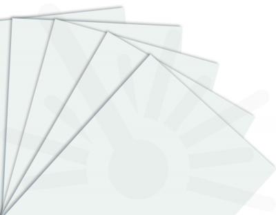 - Kar Beyaz Çift Yüz Boyalı 2.7mm Mdf - 60x40 Cm ( 5 Parça )