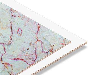 - Kırmızı -Beyaz Mermer Desen 2.7mm mdf 70x56 cm (1 Parça)