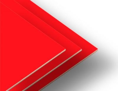 - Kırmızı Çift Yüz Boyalı 2.7mm Mdf - 105x85cm (4 Parça)