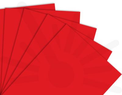 - Kırmızı Tek Yüz Mdf 2.7 mm 30x40cm ( 5 Parça )
