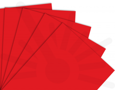 - Kırmızı Tek Yüz Mdf 2.7 mm 60x40cm ( 5 Parça )