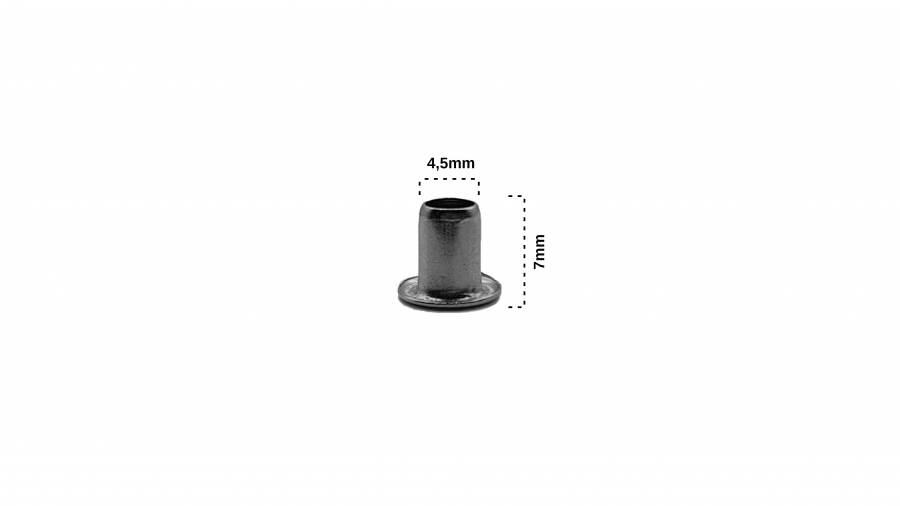 Kuş Gözü Nikel 4,5x7mm