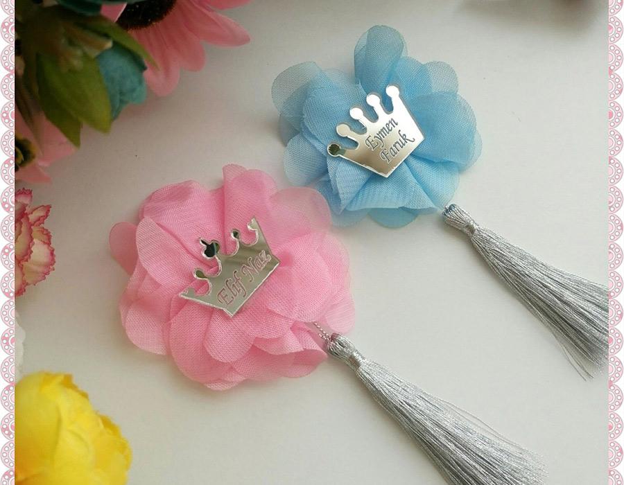 Şifon Çiçek Bebe Mavisi