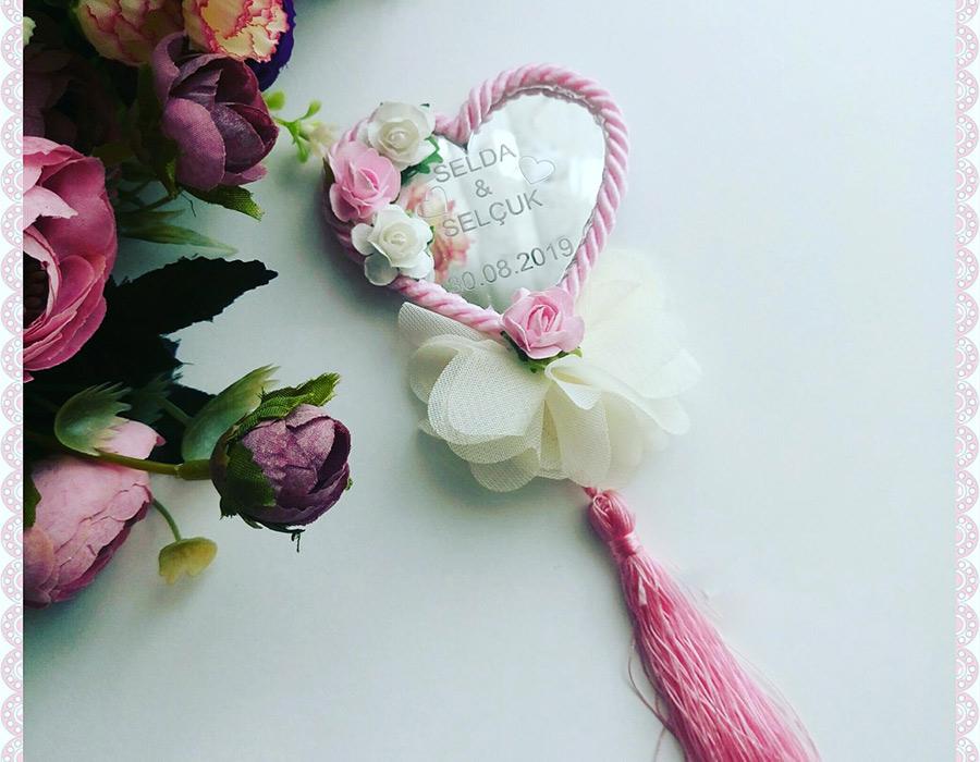 Şifon Çiçek Fuşya
