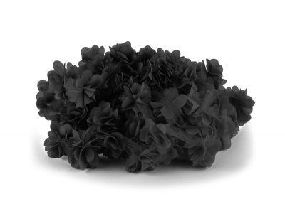 - Şifon Çiçek Siyah