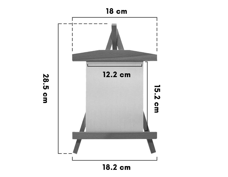 Lazer Kazıma Ahşap Şövale Dikey 18 X 28 Cm