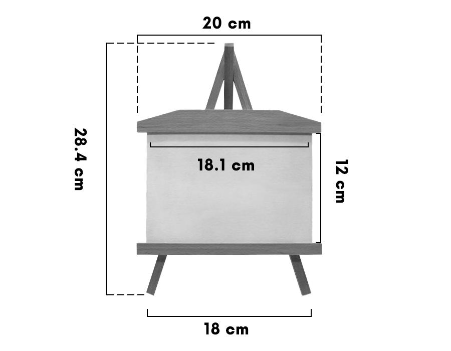 Lazer Kazıma Ahşap Şövale Yatay 20 X 28 Cm