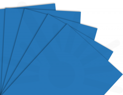 - Mavi Tek Yüz Mdf 2.7 mm 60x40cm ( 5 Parça )