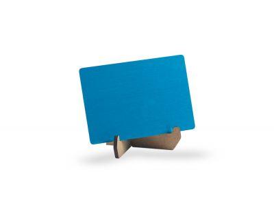 - Metal Kartvizit (Lazer & Sublimasyon) Mavi Renk