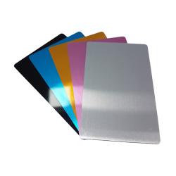 Metal Kartvizit (Lazer & Sublimasyon) Pembe Renk - Thumbnail
