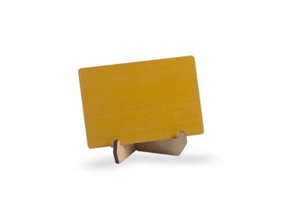 - Metal Kartvizit (Lazer & Sublimasyon) Turuncu Renk