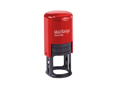- Mobi Stamps Otomatik Kaşe R-30 Kırmızı Renk