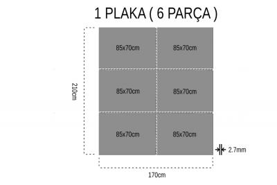 - Mostar Tek Yüz 2.7mm Mdf 85x70Cm (6 Parça)