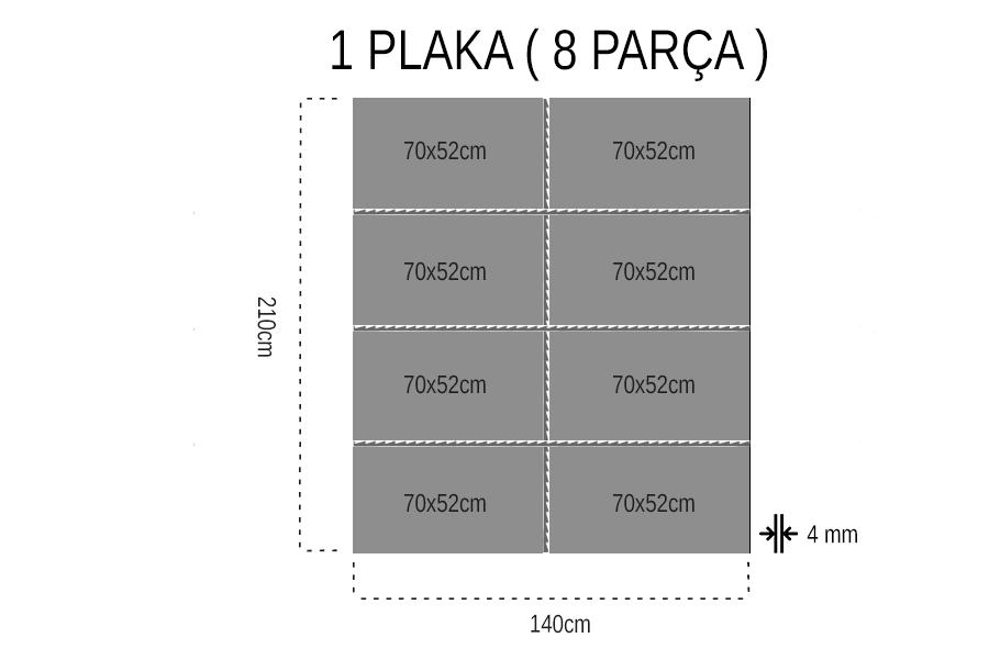 Napolyon Kiraz Tek Yüz 4 mm Mdf 70x52Cm (1 Parça)