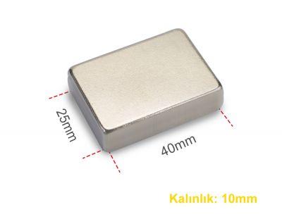 - Neodyum Mıknatıs 40x25x10mm