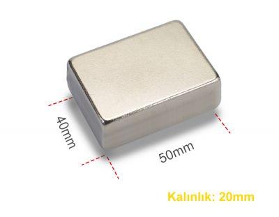 - Neodyum Mıknatıs 50X40X20mm