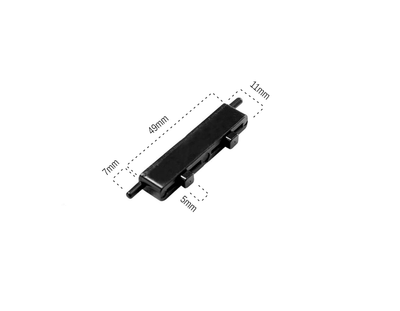 Lazerci - Plastik Menteşe Siyah Çiftli (1000 Adet) (1)