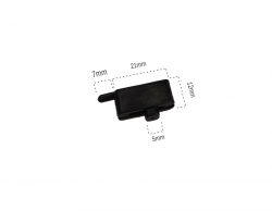 Plastik Menteşe SiyahTekli (500 Adet) - Thumbnail