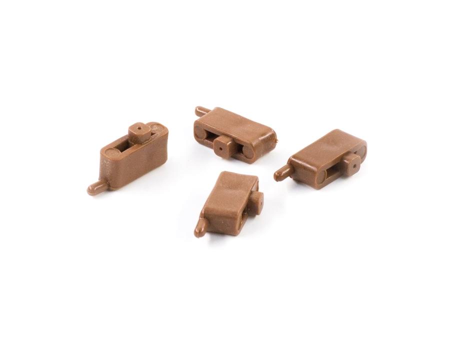 Plastik Menteşe Kahverengi Tekli (500 Adet)