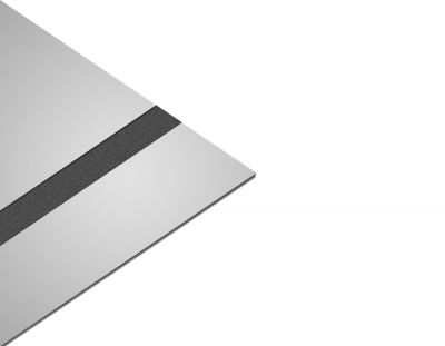 - Abs Lazer kazıma plakası Gümüş Ayna - 0.8mm 60x40 Cm