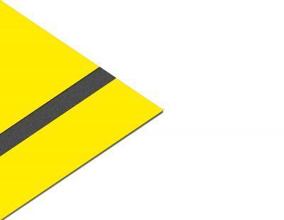 - Akrilik Lazer Kazıma Plakası Sarı-Siyah Parlak 0.8mm 60x40 Cm