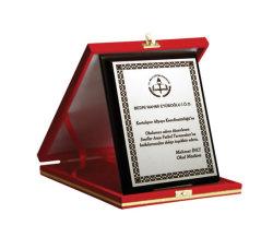 Abs kazıma plakası Altın-Siyah Parlak 0.8mm - 120x60cm - Thumbnail