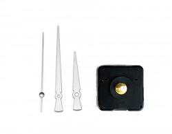 Saat Mekanizması - Metal Gümüş Akrep Yelkovan (10 Adet) - Thumbnail