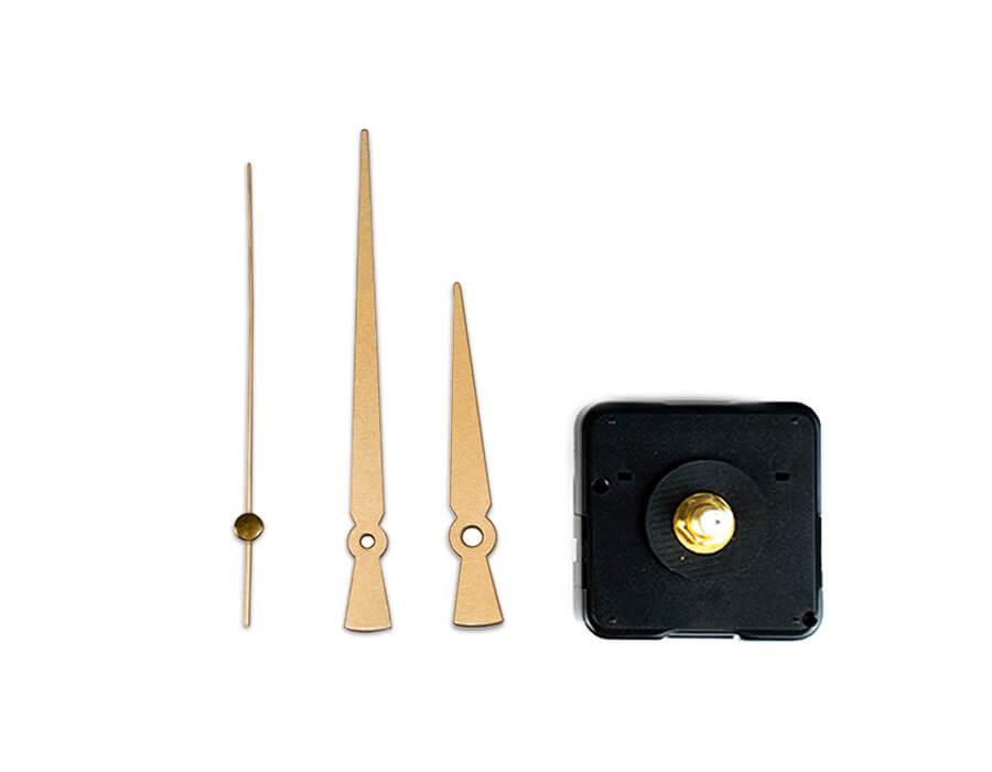 Saat Mekanizması - Metal Gold Akrep Yelkovan (10 Adet)