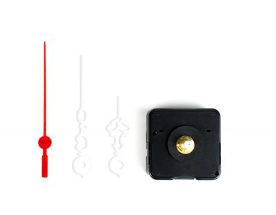 - Saat Mekanizması - Plastik Desenli Beyaz Akrep Yelkovan (10 Adet)