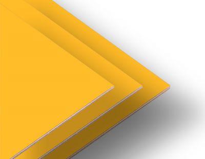 - Sarı Çift Yüz Boyalı 2.7mm Mdf - 105x85cm (4 Parça)