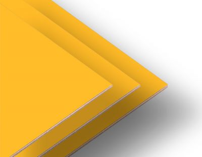 - Sarı Çift Yüz Boyalı 2.7mm Mdf - 52x85cm (8 Parça)