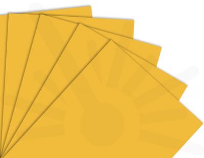 - Sarı Çift Yüz Boyalı 2.7mm Mdf - 60x40 Cm ( 5 Parça )
