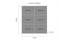 Serkan Tek Yüz 2.7mm Mdf 85x70cm (6 Parça) - Thumbnail