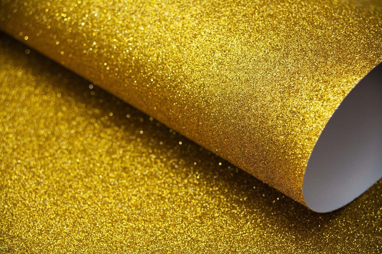 Simli Fon Kartonu 50x70 cm Altın 10Lu Paket