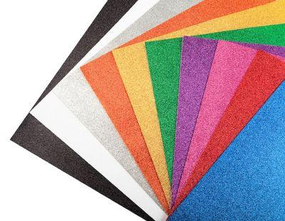 - Simli Fon Kartonu 50x70 cm Karışık Renk 10 Adet