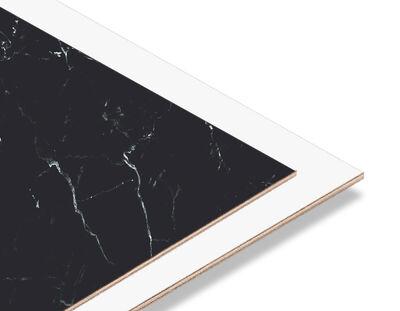 - Siyah -Beyaz Mermer Desen 2.7mm Mdf 70x56 cm (1 Parça)