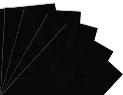 - Siyah Çift Yüz Boyalı 2.7mm Mdf - 60x40 Cm ( 5 Parça )