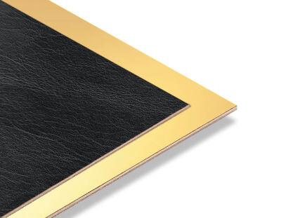 - Siyah Rustik - Altın Yaldız Mdf - 85x68 cm (1 Parça)