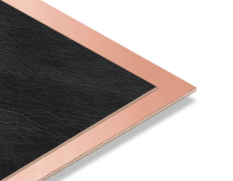 Siyah Rustik - Bakır Yaldız Mdf - 85x68 cm (1 Parça)