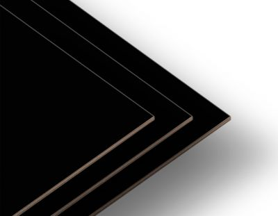 - Siyah Tek Yüz 2.7mm Mdf 52x85cm (8 Parça)