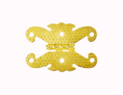 - Süslü Büyük Kelebek Metal Menteşe Altın