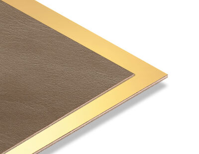 - Taba Rengi Rustik - Altın Yaldız Mdf - 85x68 cm (1 Parça)