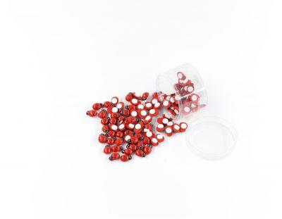 - Uğur Böceği Ahşap Yapışkanlı Kırmızı 100 Adet