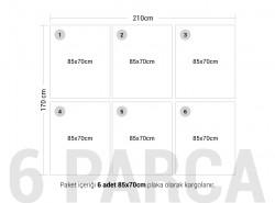 Venge Çift Yüz Boyalı 2.7mm Mdf - 85x70 Cm (6 Parça) - Thumbnail