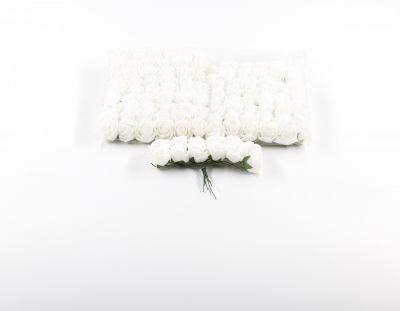 - Yapay Çiçek Latex Gül Beyaz 120 Adet
