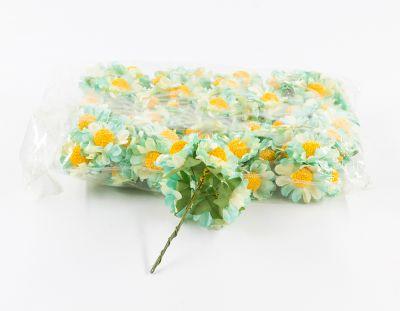- Yapay Çiçek Papatya Turkuaz 72'li Paket