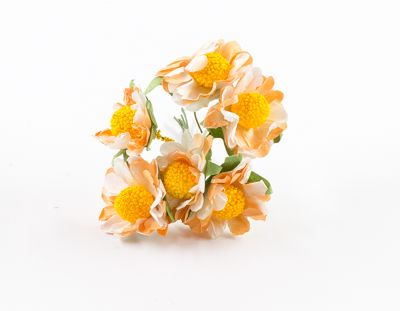 - Yapay Çiçek Papatya Turuncu 72'li Paket