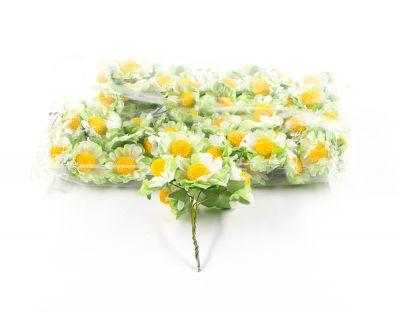 - Yapay Çiçek Papatya Yeşil 72'li Paket